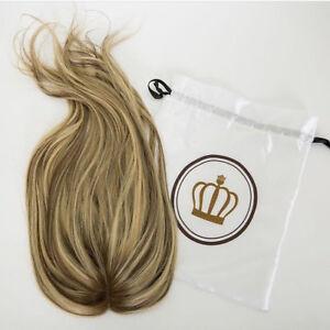 Brazilian Human hair lace topper Hairpiece Balayage Blonde Human Lace Closure