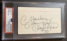 Marvelous Marvin Hagler HOF 93 PSA/DNA Signed Index Card Middleweight Champion
