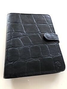 Mulberry Agenda Filofax In Black Congo Leather