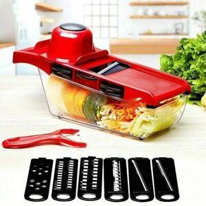 Food Vegetable Salad Fruit Peeler Cutter Slicer Dicer Chopper Kitchen Tool UK