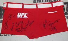 Jhenny Andrade Camila Oliveira +7 Signed UFC Octagon Girl Shorts PSA/DNA Ring