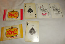 Vintage 2 Decks playing Cards Stroh's Beer For Beer Lovers yellow and red color