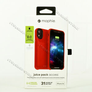 Mophie Juice Pack Access Battery Case Cover For iPhone XR (2000mAh) - Red