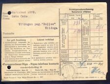 8678 Germany(Ostland),1942,Telephon bill cover from Riga to Vildoga in germany