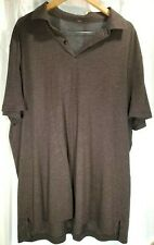 Lululemon Core Gray Short Sleeve Polo Shirt Size XXL 2XL Workout Lightweight EUC