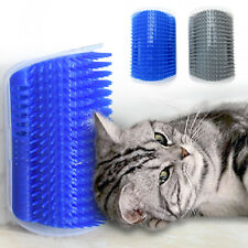 More details for cat groomer brush grooming toy with catnip wall corner self pet massage comb new