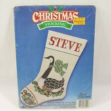 Vintage Christmas Stocking Canada Goose Good Shepherd Cross Stitch Kit 87204 New