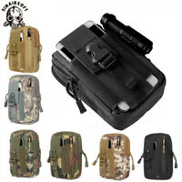 Outdoor Military Tactical Holster MOLLE Waist Belt Bag Zip Hip Phone Wallet Case