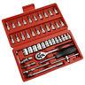 "New 46Pcs 1/4"" Ratchet Wrench Combination Socket Tool Set Kit Auto Car Repairing"