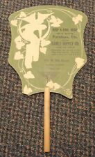 c1915 Salina Kansas Hanly Furniture Supply Co ad fan - Phone 153 - 108 N. 5th St