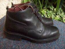 BLACK LEATHER/ANKLE BOOTS/LACE-UPS/BY BASE/SIZE 8