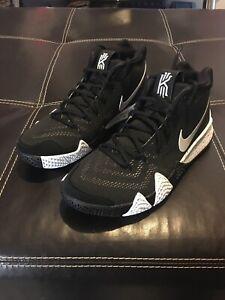 Nike Kyrie 4 TB Basketball Shoes Oreo Black White Men's Size 9 AV2296-001
