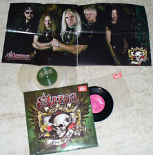 "Saxon-Live to rock part 1+2 Vinyl Pack 12"" +7"" rare notvd only 250 made Biff byf"