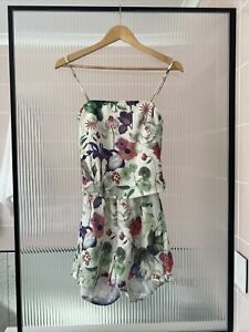 BNWT Motel S Playsuit Floral Romper Jumpsuit Open Back Sleeveless Spring