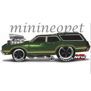 MAISTO 15556 MUSCLE MACHINES 1970 OLDSMOBILE VISTA CRUISER 1/64 DIECAST GREEN