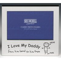Fathers Day Step Dad Daddy dad I Love My Daddy From His Head To His Toes Frame