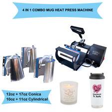 Mug Heat Press Machine Transfer Sublimation 4 in1 DIY Print Christmas Coffee Cup