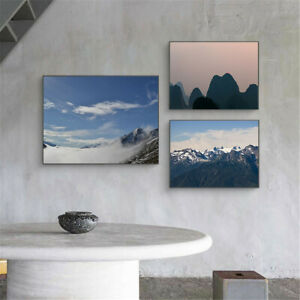 Mountain Scenery Artistic Conception Canvas Print Poster Picture Wall Home Decor