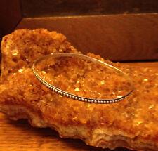 Dainty DaneCraft Vintage Sterling Silver Bangle Tiny Bead Pattern Bracelet
