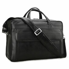 "Men Leather Attache Briefcase 17"" Laptop Shoulder Bag Handbag Business Satchel"