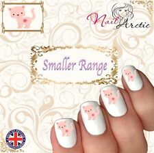 40 x Nail Art Water Transfers Stickers Wraps Kitten Cat Smaller Nail Children's