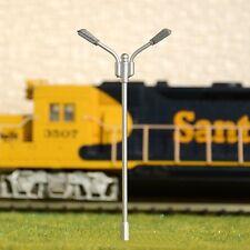S583 - 10-pc Fouet brillance avec LED BLANC 2 flammes Artist 7,5cm jeu