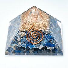 Large Lapis Lazuli Orgonite Pyramid Gemstone Reiki Healing Orgone Chakra x 1