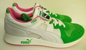 Puma RS-100 PRISMATRON III Shoes Sneakers  Men's Size 10  WHITE GREEN PINK
