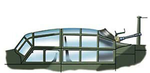 Ju 88 G Vacuform Canopy for Dragon (1/48 Squadron 9538)