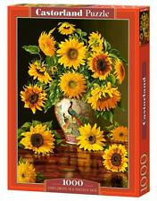 """Castorland Puzzle 1000 Pieces SUNFLOWERS IN A PEAC 27""""x18.5"""" Sealed box C-103843"""