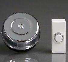 SIEMENS tradicional cromado puerta campana blanco ILUMINADO Botón dcw8/dcw12
