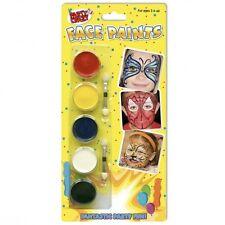 Pinturas De Rostro Set Lavable Kit Facial Infantil Corporales Halloween GB