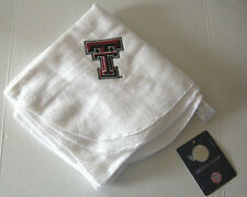 "Texas Tech University Receiving Blanket, White, 26"" x 28"", Fleece, Brand New"