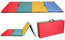 "New 4'x8'x2"" Folding Panel Gymnastics Mat Gym Exercise Yoga Mat Pad R4CM"