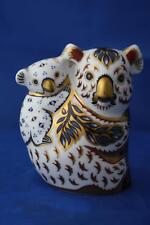 ROYAL CROWN DERBY KOALA AND BABY - AUSTRALIAN COLLECTION - CERTIFICATE & BOXED