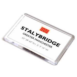FRIDGE MAGNET - Stalybridge, Greater Manchester - Lat/Long SJ9698