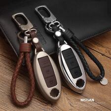 Zinc alloy+Leather Car Remote Key Cover Case For Nissan Qashqai J10 J11 X-Trail