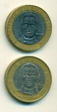 2 BI-METAL 5 PESO COINS from the DOMINICAN REPUBLIC (2002 & 2008)
