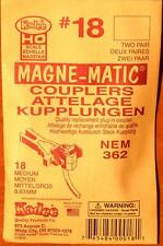 Kadee #18 NEM 362 Medium Magne-Matic couplers - HO/OO scale (2 pair)