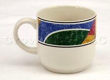 "Sango Flair 91 Multi Color Decorative Mug Cup - 3"" Tall 3.25"" Wide - Part # 4806"