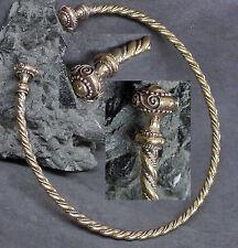 Gr.XL flexibel Torque Bronze Kelten Halsreif Mittelalter Halsschmuck Torques