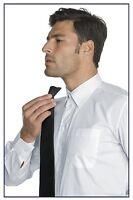 cravatta nera classica con nodo già fatto a clip tie black made in italy 115291