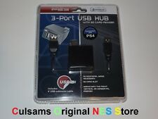 Sony Playstation 3 PS3 3-Port USB Hub SD Card Reader Compatible with PS4 & PC