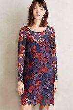Anthropologie Moulinette Soeurs Harvest Blooms Crochet Dress Blue Floral 2 NWT