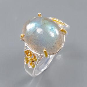 Handmade Labradorite Ring Silver 925 Sterling  Size 7 /R165011