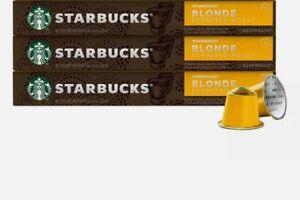 Starbucks Coffee Nespresso Capsules 30 Count Blonde Espresso Roast