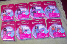 NEW American Girl Mega Bloks Series 1 Set of 8 Figures Dolls HTF