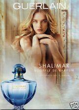 Publicité advertising 2014 Parfum Shalimar de Guerlain Natalia Vodianova