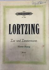 Lortzing Zar und Zimmermann