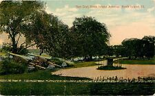 Postcard Sun Dial Rock Island Arsenal Illinois IL pm 1915